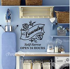 Laundry Room Self Serve Vinyl Wall Art Home Decoration Quote Decal Sticker
