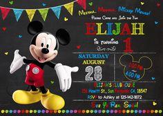 Mickey Mouse Party Invitation Mickey Mouse Invitation Mickey