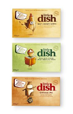 Little Dish. Line of complete meal products with cute illustrations.