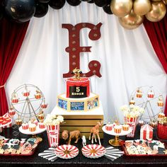 Greatest Showman Party Supplies in a Box, Circus Party,Circus Tent Favor Boxes, Red Stripes, Black S Carnival Party Supplies, Circus Carnival Party, Circus Theme Party, Carnival Birthday Parties, Carnival Themes, Circus Birthday, Birthday Celebration, Birthday Party Themes, 5th Birthday