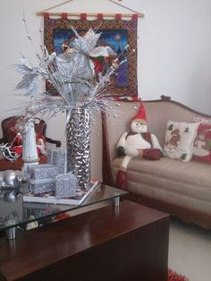 mi sala llena de espíritu de la navidad