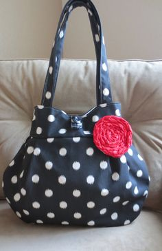 NEW Coal Dottie Lily Bag by ThePlumPinCushion on Etsy, $48.00