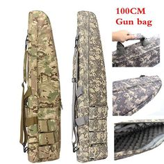 Picnic Bags 40 Dual Gun Bag Tactical Rifle Sniper Carrying Case Gun Bag Bk Extremely Efficient In Preserving Heat Campcookingsupplies