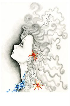 "Pencil Drawing & Illustration a Fine Art Giclee Print of my Original Pencil Drawing Illustration ""Reach For the Stars"""
