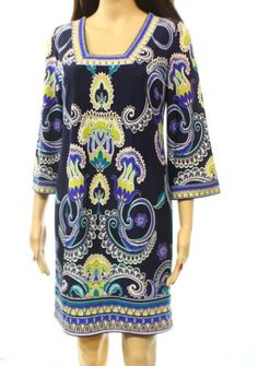 469bf9791356dc Laundry by Shelli Segal NEW Blue Floral Printed Size 2 Tunic Dress  139  135