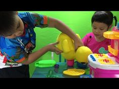Kichen Cooking Play Set Kids Funny Surprise - Youtube Kids Toys