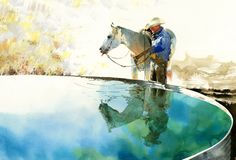 Welcome Sun by Don Weller Watercolor ~ 13 x 20