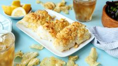 Make and share this Crispy Oven Fish recipe from Genius Kitchen. Potato Recipes, Snack Recipes, Cooking Recipes, Seafood Recipes, Meat Recipes, Crushed Potatoes, Homemade Cheese Sauce, Fish Varieties, Recipes