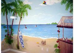 Tropical Beach -Playroom Mural