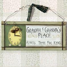 Grandma & Grandpa's Place Sign 25470 | Buffalo Trader Online