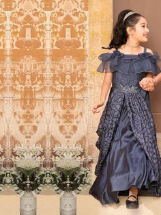 Designer Gowns for Girls. Buy online children's gowns dresses & frocks at best price for 1 to 16 years girls. Shop girls designer gowns for Wedding, Birthday, Party & Festival wear. Gown Dress Online, Party Gowns Online, Cotton Silk Fabric, Long Dress Design, Kids Gown, Kids Frocks Design, Cute Girl Dresses, Gowns For Girls, Frock Design
