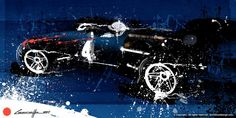 Dan Gurney by artist Michele Leonello