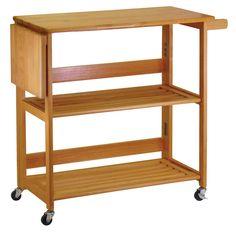 Foldable kitchen cart/island