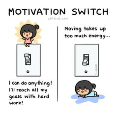 My motivation switch is on right now! >:D Hopefully it doesn't switch off soon. TOT