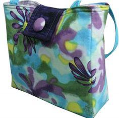 Teal and Purple #Daisy Structured #Purse #Handmade by #SieberDesigns #ArtFire