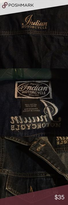 Indian MotorCycle Jacket Indian Motorcycle  jean jacket like new hard to let go of this beauty 🏍cropped Indian Jackets & Coats Jean Jackets