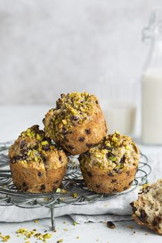 Muffins bananes pistaches et chocolat - K pour Katrine Gluten Free Muffins, Scones, Meal Prep, Biscuits, Sweet Tooth, Food And Drink, Keto, Sweets, Bread