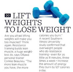 Lifting weights builds lean muscle, which can help you burn more calories.
