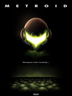 Metroid Poster I'm gonna win the lottery just to own a psychical copy of this.