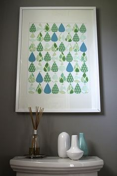 I want to make one of these for my mint green tiled bathroom that NOTHING matches.
