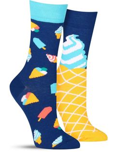 b1d9b3d89 Ice Cream Dream Socks
