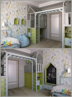 (^o^) Kiddo (^o^) Lofty ~ Kids Loft Bed - детская - Галерея 3ddd.ru