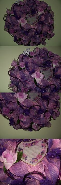 Wreaths 16498: Mother S Day Homemade Deco Mesh Wreath -> BUY IT NOW ONLY: $70 on eBay!