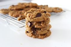 Chewy Chocolate Chunk Cookies Vegan and gluten free!