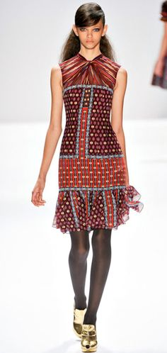 Love this Boho Glam look from Nanette Lepore' Fall 2012  via @quintessence