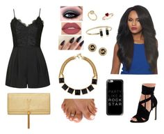 """""""Party Like A Rock Star"""" by divinemaboundou ❤ liked on Polyvore featuring Ally Fashion, Smashbox, Michael Kors, Yves Saint Laurent and Casetify"""