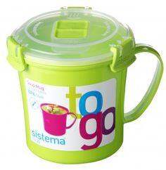 Sistema 21107 Klip It Soup Mug To Go $7.99 | www.houseables.com | #soupmug #kitchen