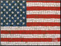 Rudi Von Briel-American Flag in Mosaic