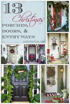 someday, I'll decorate my porch like this: Inspiration for Christmas Porches, Doors, and Entryways via @Jenna_Burger, sasinteriors.net