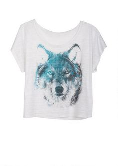 Embellished Wolf Tee - Artistic - Graphic Tees - Tops - dELiA*s