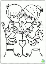 Valentine's Day coloring pages- DinoKids.org