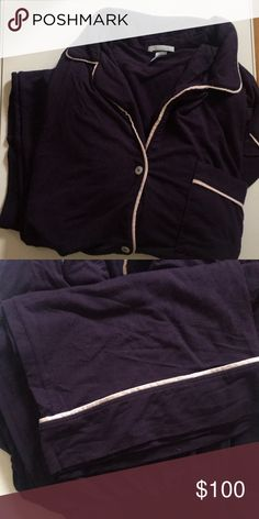Ebergey Gisele PJ set - Small in Eggplant/Sorbet Lovely PJ set in great condition - I am 5' 3'' and it hits my ankle Eberjey Intimates & Sleepwear Pajamas