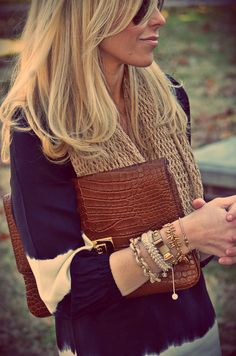Different textured arm candy!  LOVE