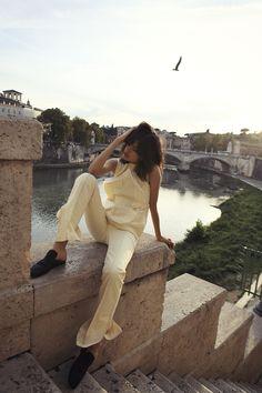 Women S Plus Size Cotton Knit Dresses Fashion Editor, Latest Fashion Trends, Fashion Ideas, Duster Dress, Most Beautiful People, Resort 2017, Elle Magazine, Beautiful Outfits, Rome