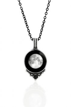 Black Swarovski Necklace with the moon on the day you were born. How does your #Moonglow?
