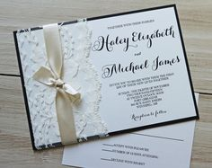 Rustic Wedding Invitation, Lace Wedding Invitation, Vintage Wedding Invitation, Modern Rustic Wedding Invitations, Rustic Lace, The perfect