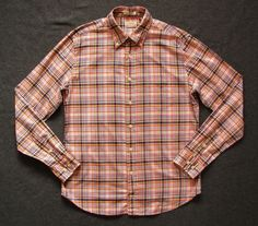 GANT RUGGER HUGGER MENS L large BLEEKER ST PLAID BUTTON DOWN SHIRT #GANT #ButtonFront