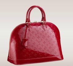 Louis Vuitton Alma Gm Red/Pomme D'amour Patent Leather Satchel off retail Louis Vuitton Alma Bag, Pre Owned Louis Vuitton, Vuitton Bag, Louis Vuitton Handbags, Louis Vuitton Monogram, Lv Handbags, Fashion Handbags, Fashion Bags, Leather Handbags