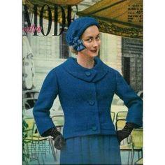 Votre Mode (n°568) du 16/01/1958 - Tailleur Dior (couv.) - Très jeunes (robes) - Ensembles de fin d'hiver - Bal costumé - Au réveil - Fantaisie des blousons (garçons) - Bordures brodés - Robe de chambre enfant (patron) - ... [Magazine mis en vente par Presse-Mémoire]