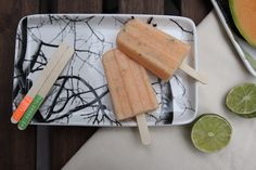 Melon Mint Lime Ice Pops