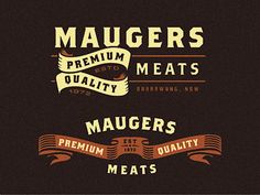 Maugers Meats - Logo Explorations  by Emir Ayouni