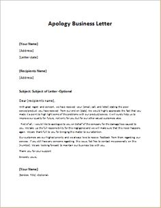 Example Letter Of Apology Amusing Letter Giving Advice To Subordinates To Resolve A Conflict Or Issue .