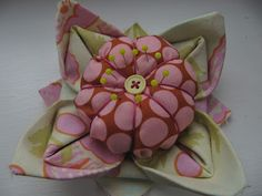 Knotted Cotton: Quilts & Other Makes. Origami Lotus Flower Pincushion. Tutorial.