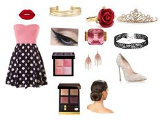 """""""Katy's date night outfit"""" by ireallydontcare16 ❤ liked on Polyvore featuring Casadei, Lime Crime, Mehron, Givenchy, Tom Ford, BillyTheTree, Stella & Dot, Serefina and Oscar de la Renta"""