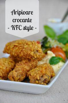 Aripioare de pui crocante - KFC style, o reteta de pui rapida si foarte gustoasa pentru toata familia - pot fi gatite picante sau nu, in functie de gust