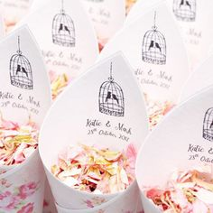 Vintage Confetti Cones are ideal for any vintage themed wedding. Perfect for holding our natural and biodegradable wedding confetti. Biscuit Wedding Favours, Seed Wedding Favors, Edible Wedding Favors, Unique Wedding Favors, Wedding Ideas, Wedding Wishes, Wedding Things, Wedding Stuff, Biodegradable Confetti
